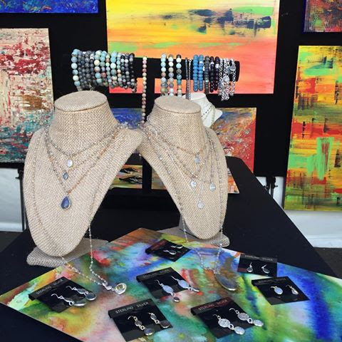 Angela Bushman's natural stone jewelry